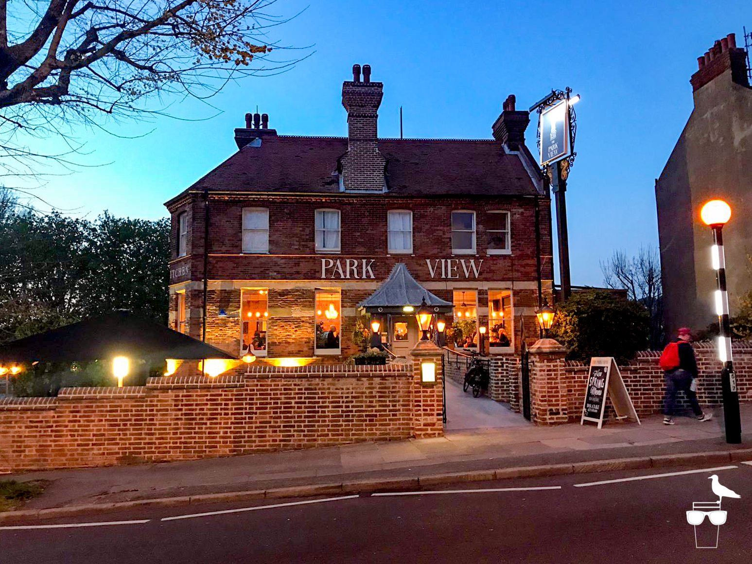 the park view pub preston park brighton outside front elevation dusk