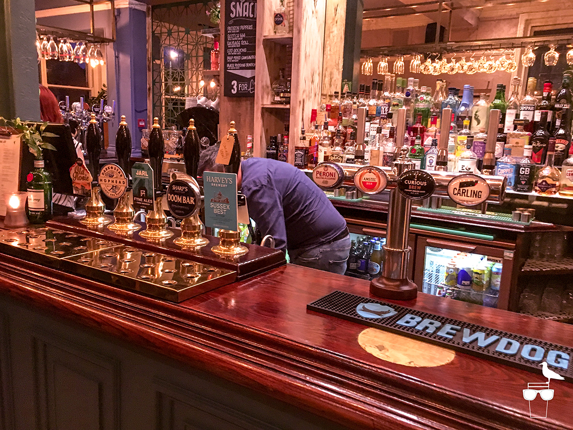 waggon and horses pub brighton bar and cask options