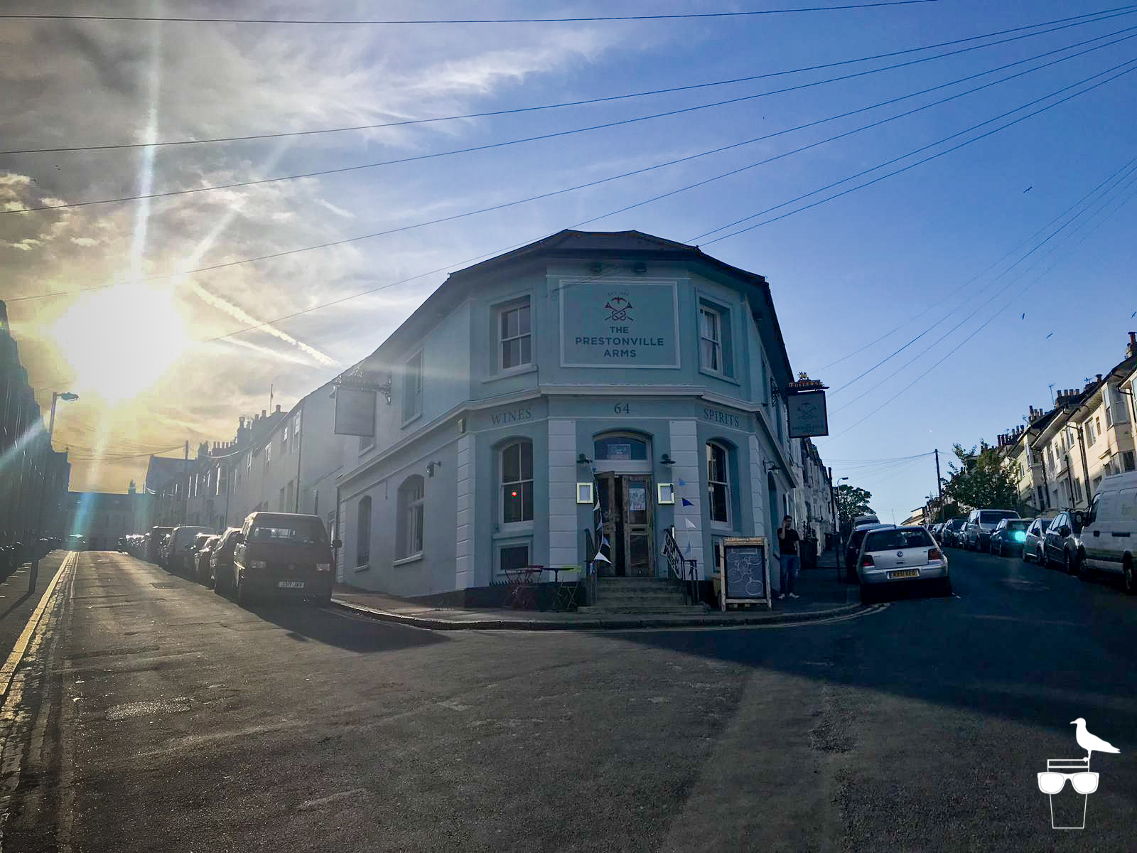 the prestonville arms pub brighton outside front elevation with sunset