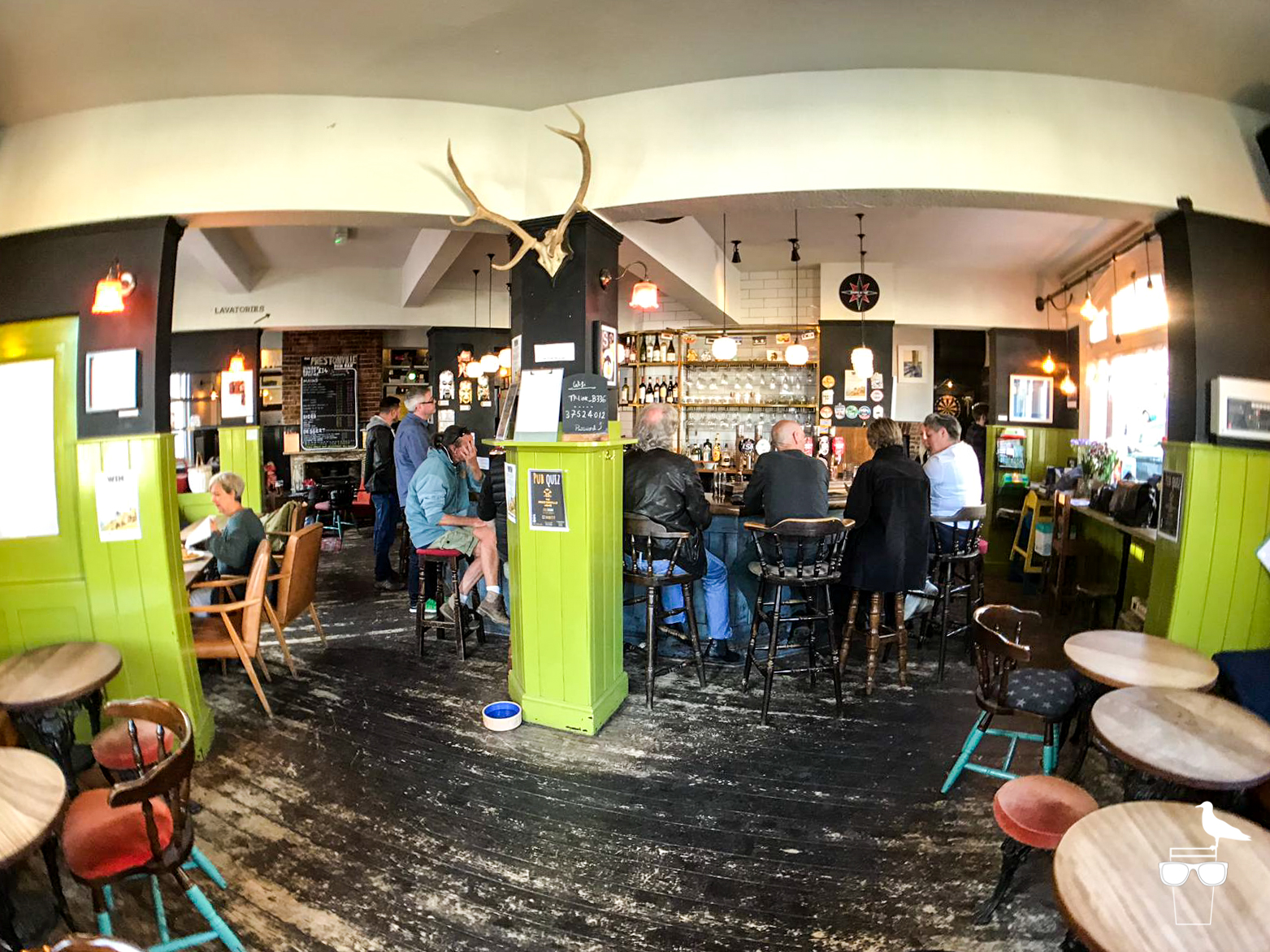 the prestonville arms pub brighton inside wide angle pub with customers