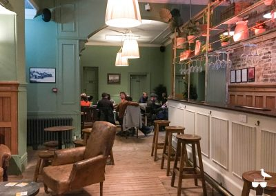 The Dyke Alehouse inside seating dining area