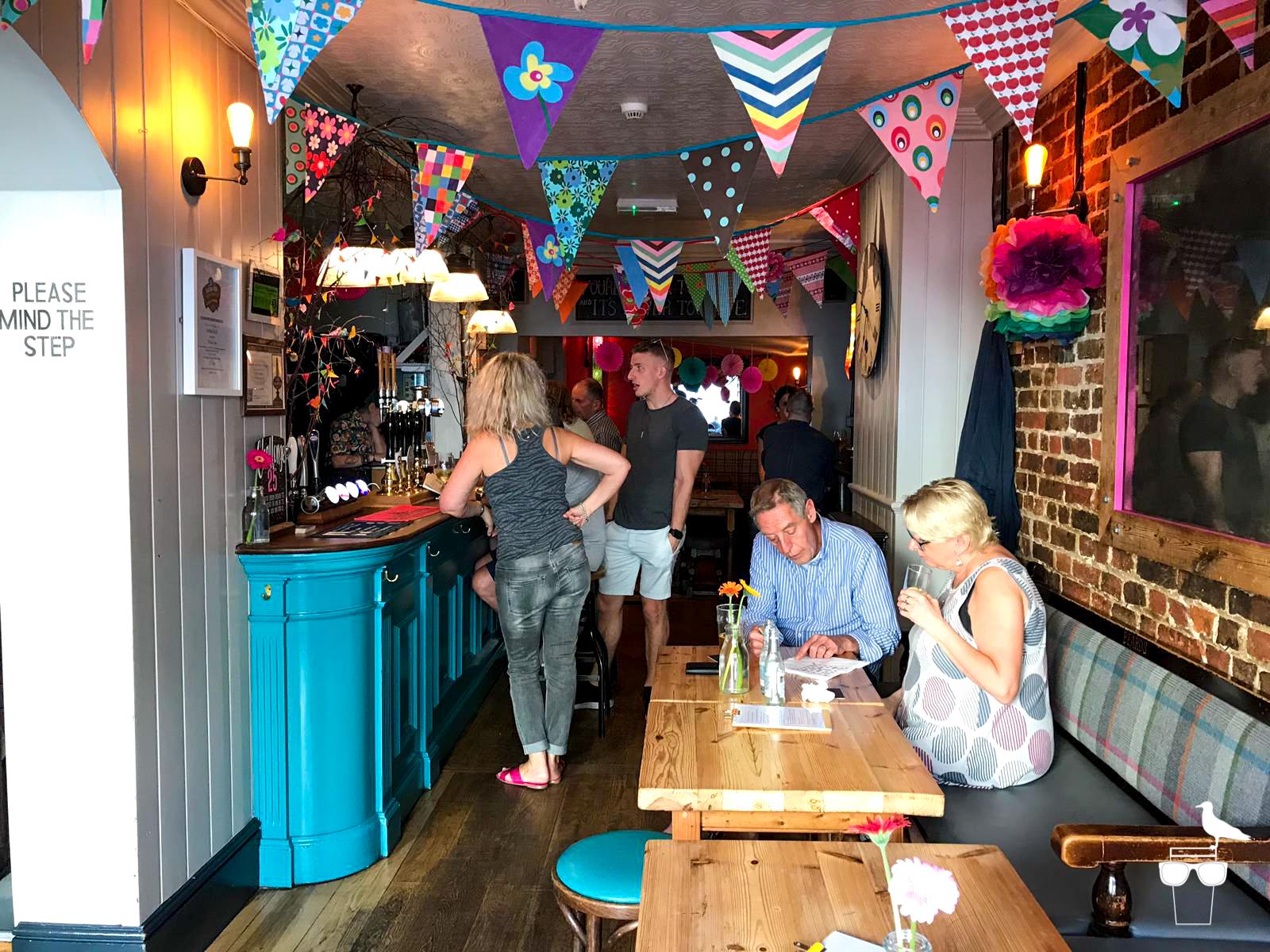 the farm tavern pub hove inside tables bar customers