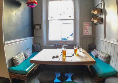 the farm tavern pub hove bright booth and window