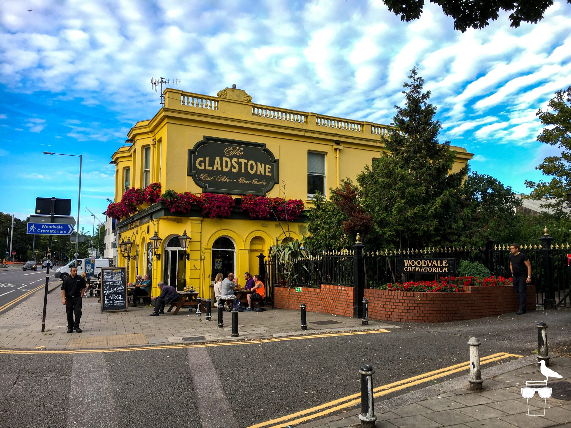 The Gladstone pub London Road Brighton outside view with blue sky