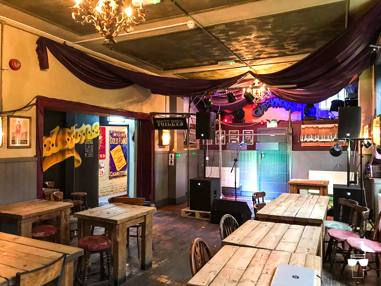 The Gladstone pub London Road Brighton the event space