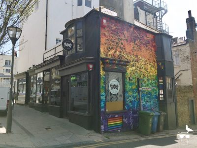 the cloak room bar kemptown brighton outside from corner elevation