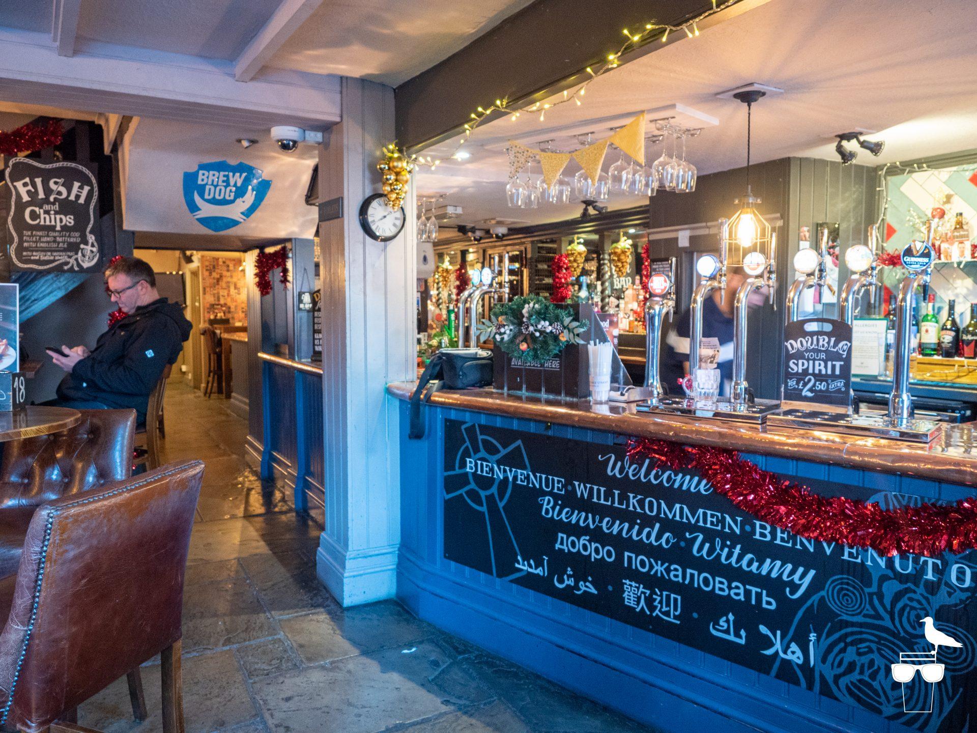 the druids head pub brighton inside bar serving area