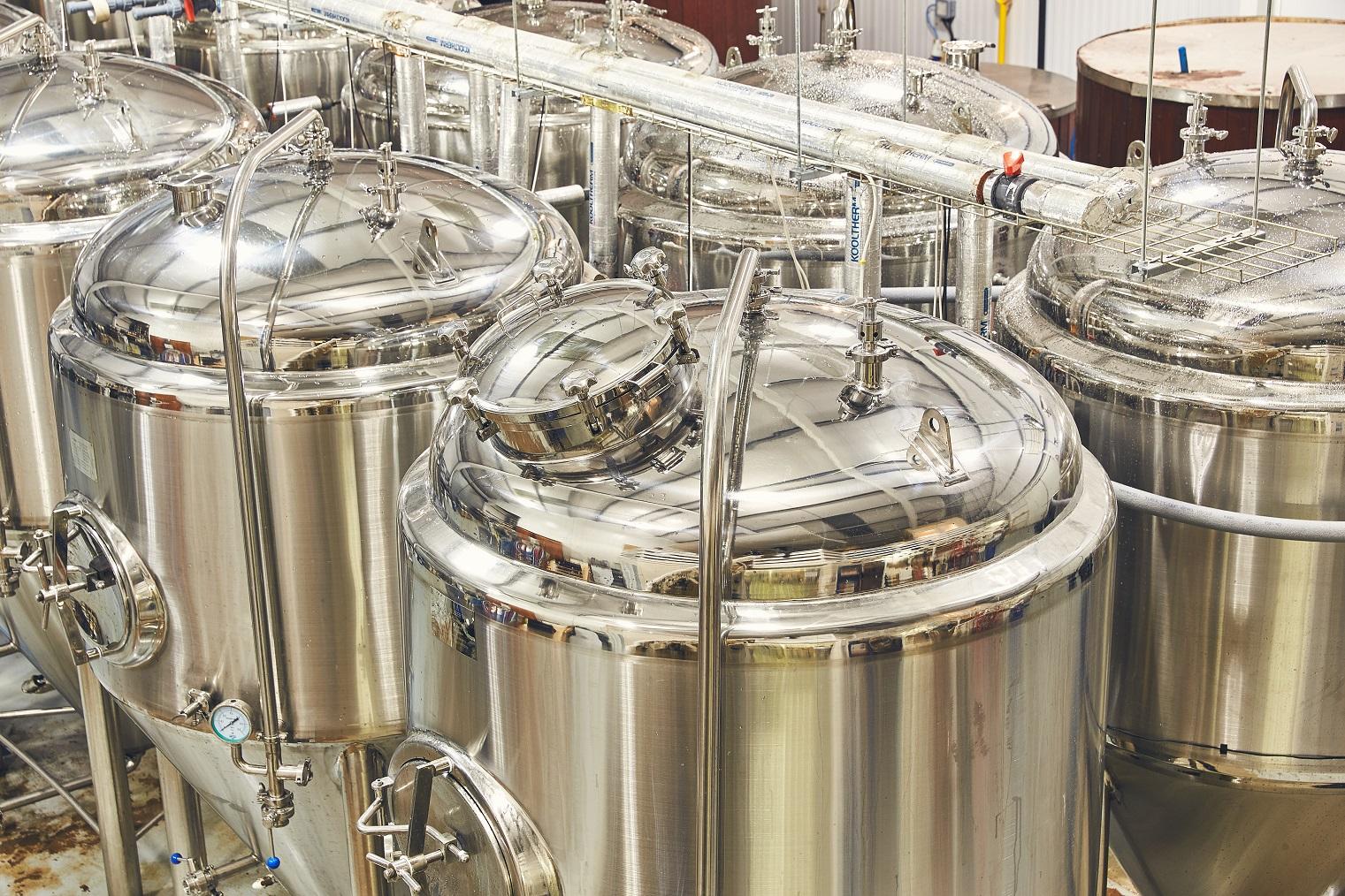 Firebird brewery tanks