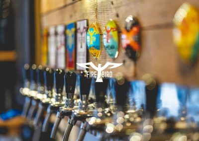 Firebird brewery taps tapbar