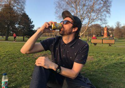 Matt Williams Big Hug Brewing drinking pave the way pale