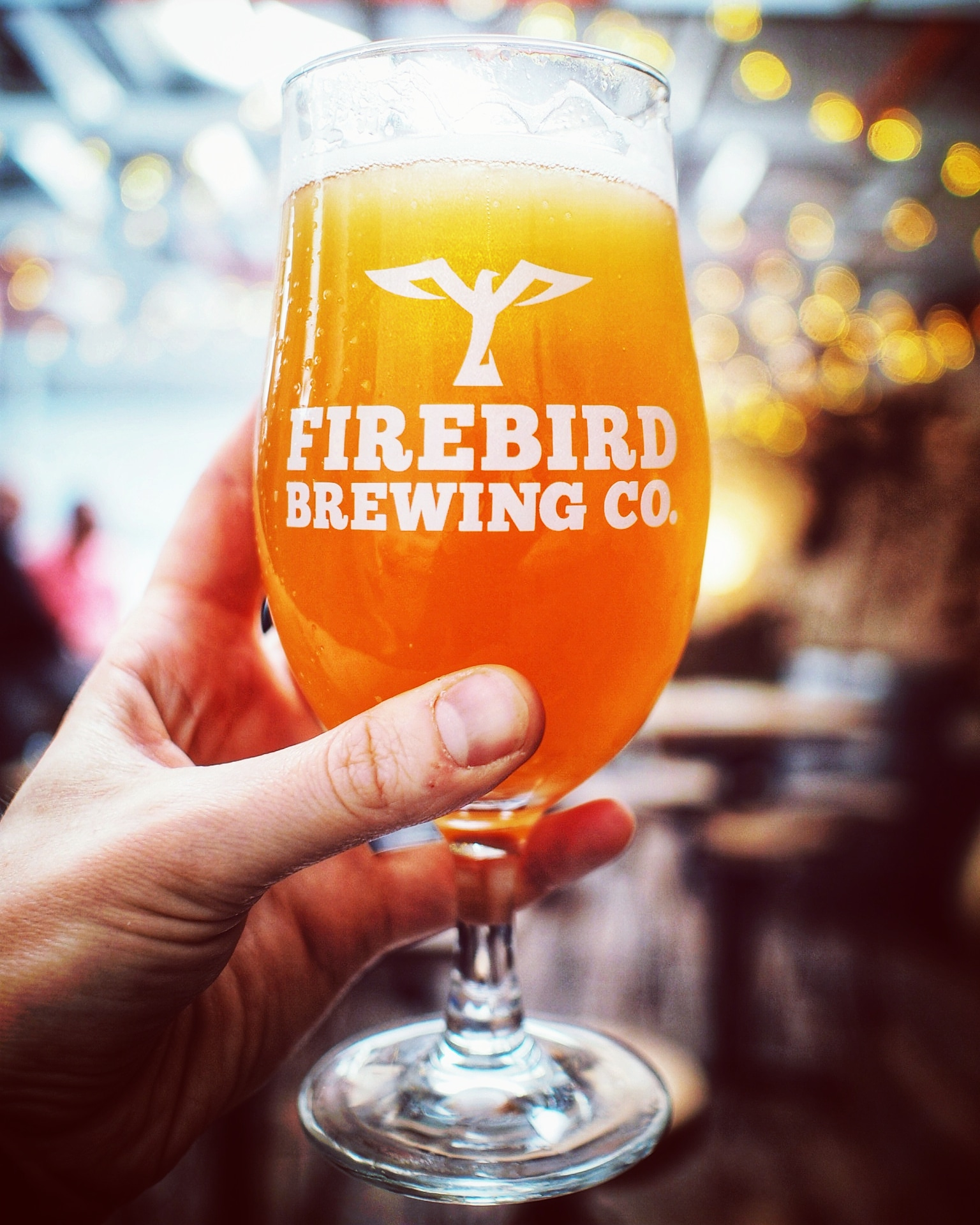 firebird brewing co branded glass