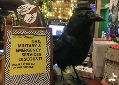idle hands brighton crow on the bar nhs discount