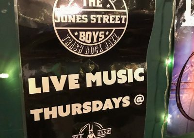 idle hands brighton the jones street boys live music thursdays poster