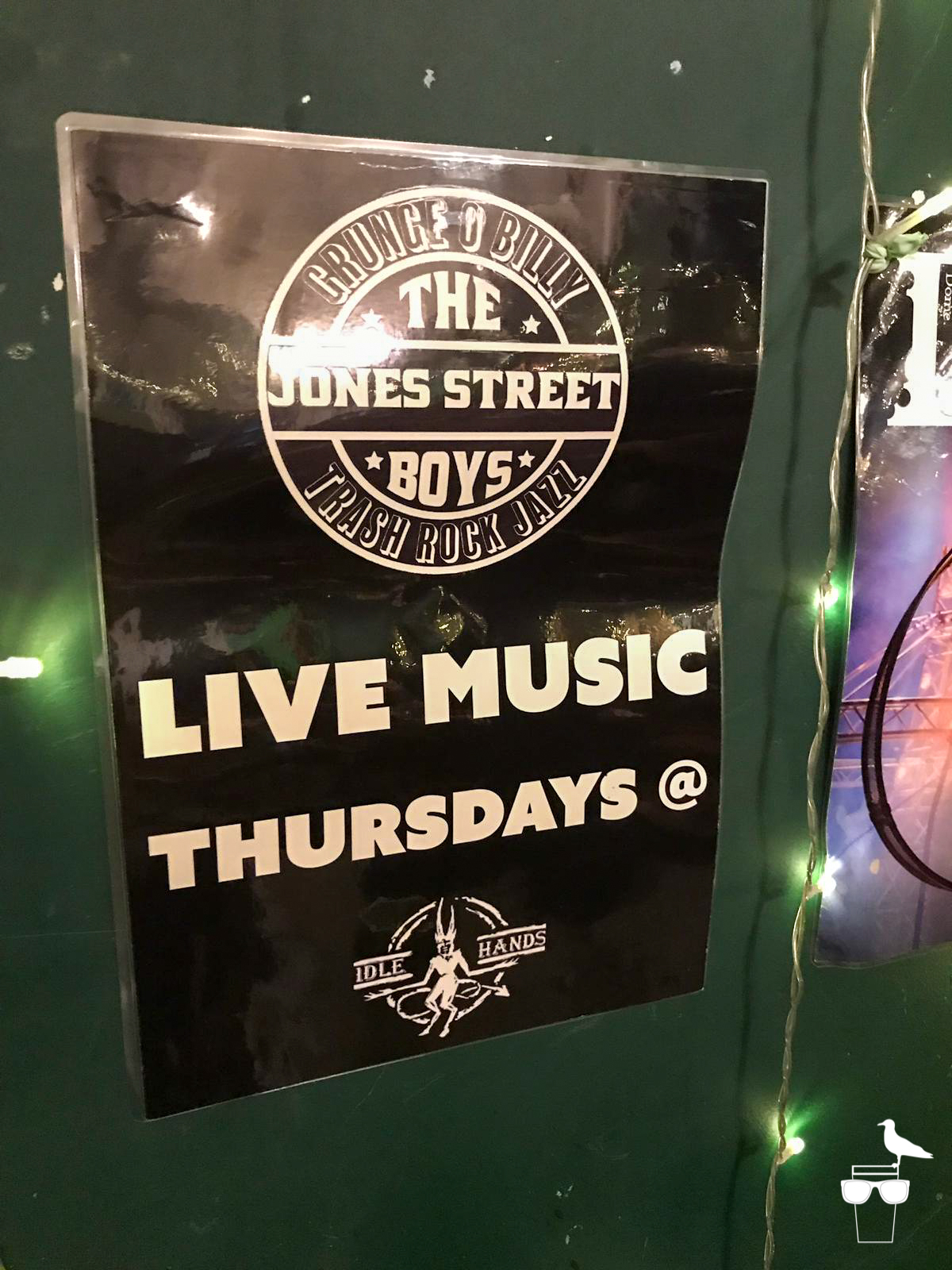 idle hands brighton the jones street boys live music thursdays poster