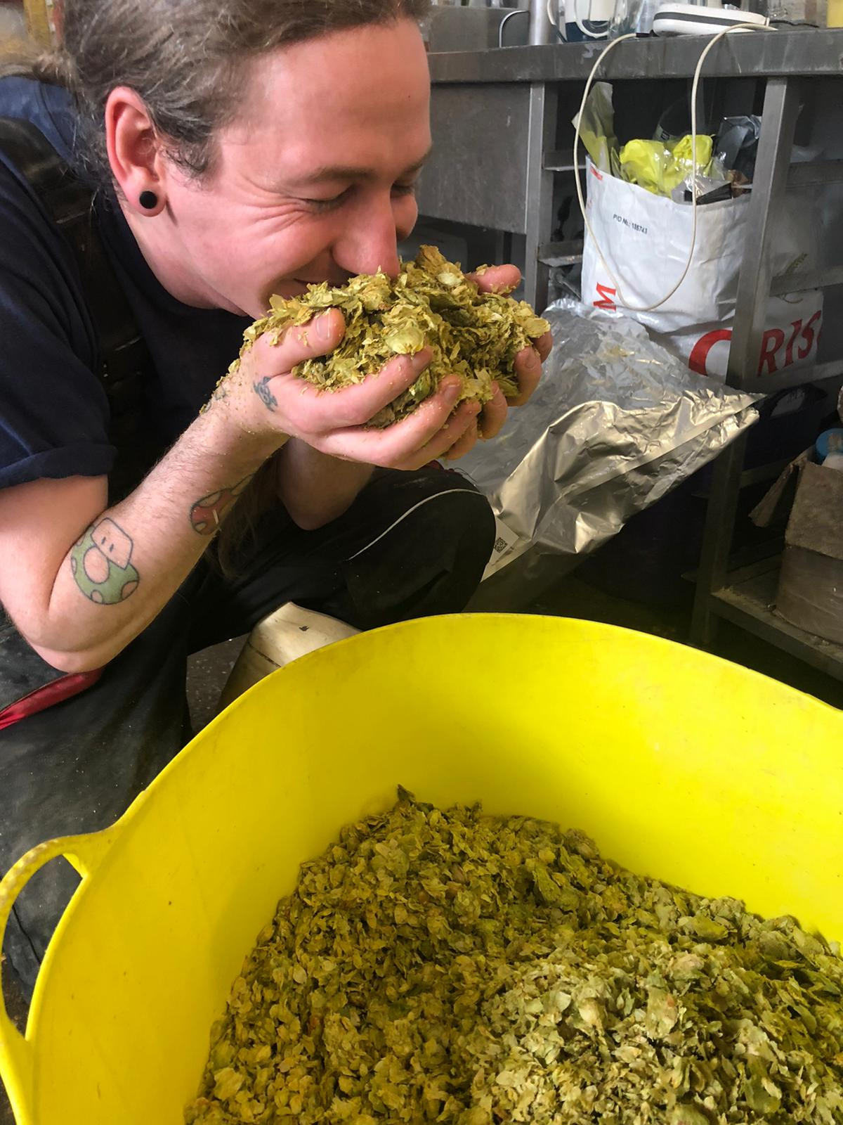 franklins brewery Jaye likes hops