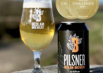 Bedlam Pilsner Double Gold European winner