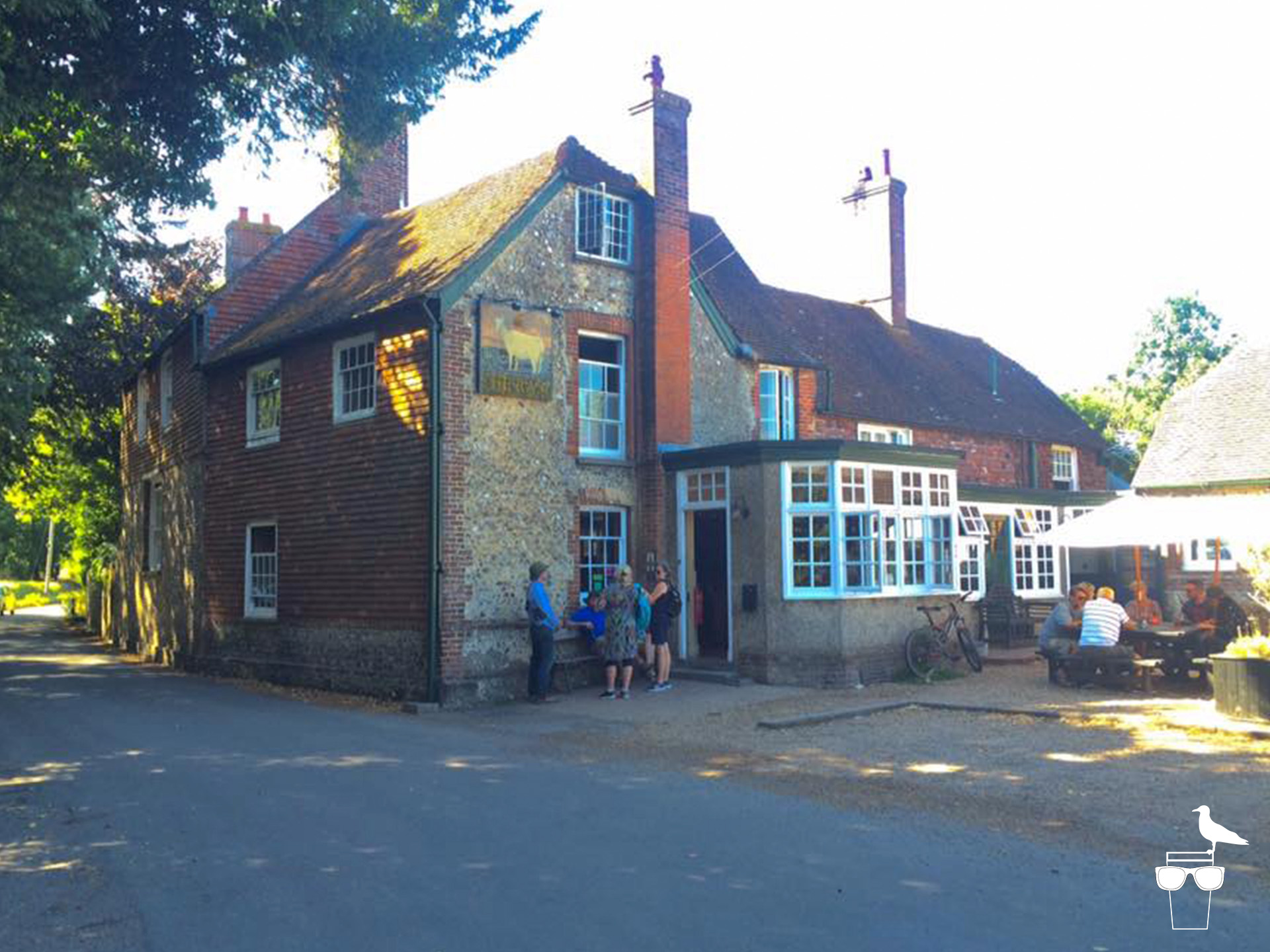 the ram inn pub firle outside