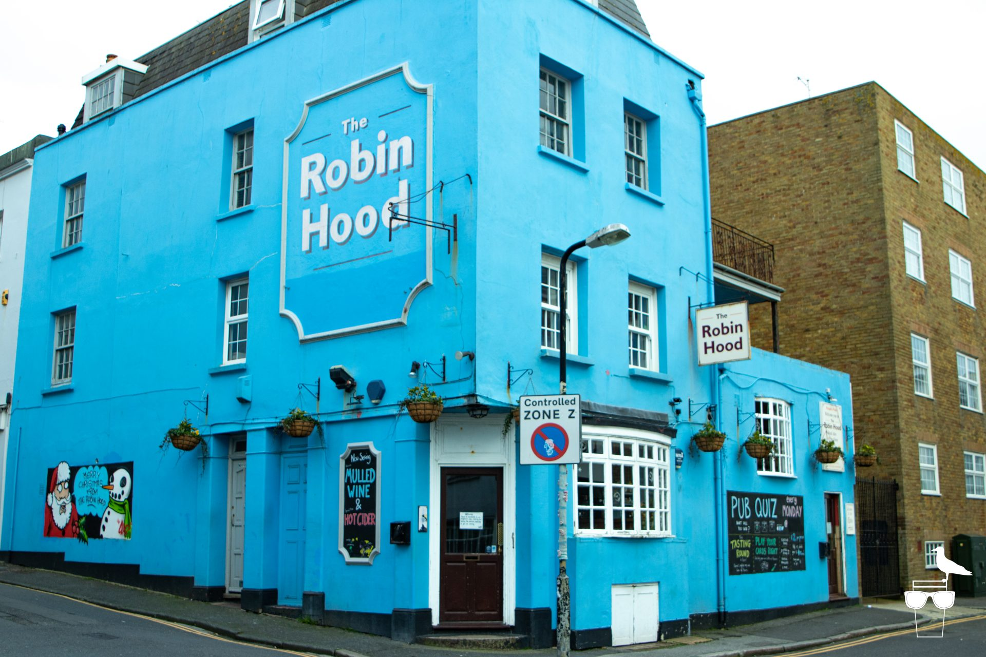 Robin Hood pub brighton, front, outside