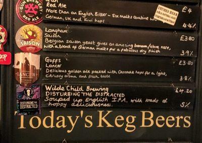 the watchmaker's arms hove beer options chalkboard list
