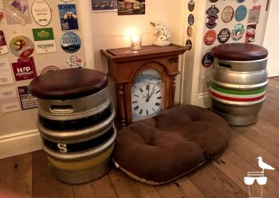 the watchmaker's arms hove cask seating and clock