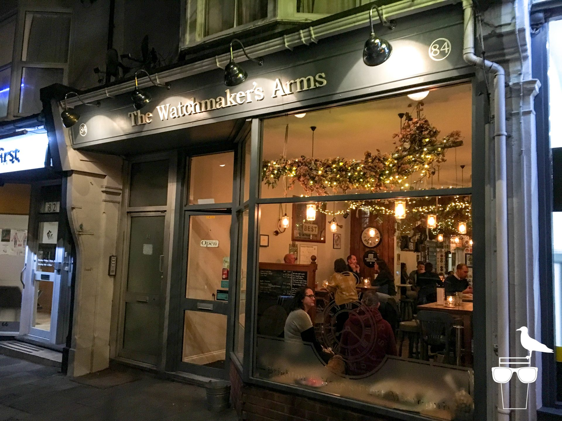 the watchmaker's arms micropub hove outside night evening
