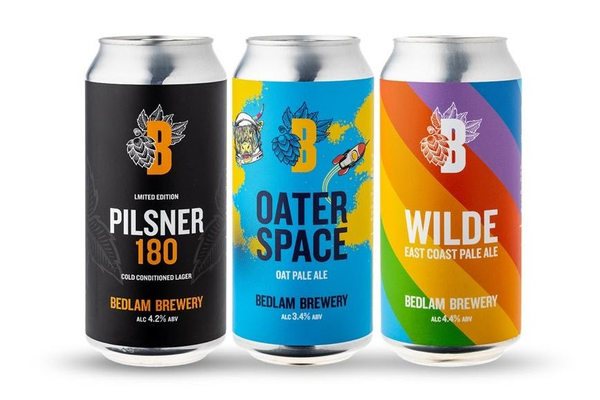New Release: a trio of cans from Bedlam Brewery