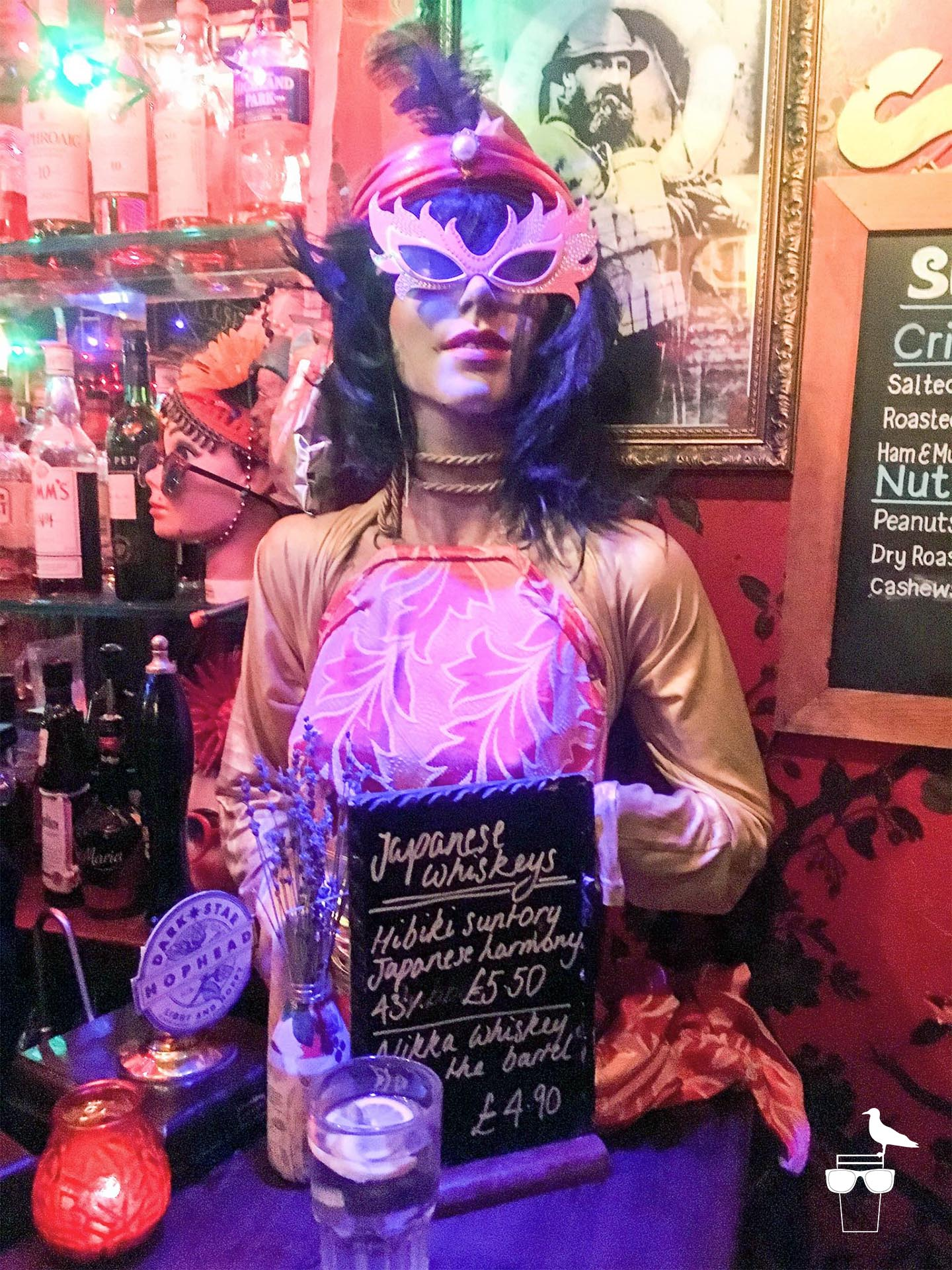 the bees mouth bar brighton dressed up mannequin