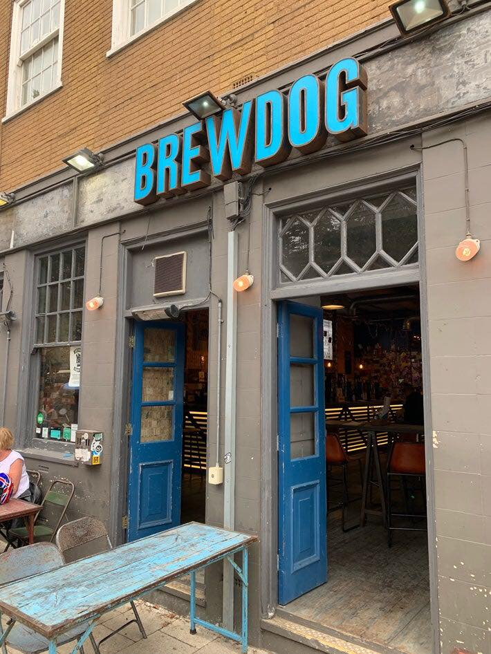 brewdog brighton pub bar outside entrance