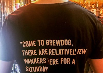 brewdog brighton t shirt relatively few wankers here for a saturday