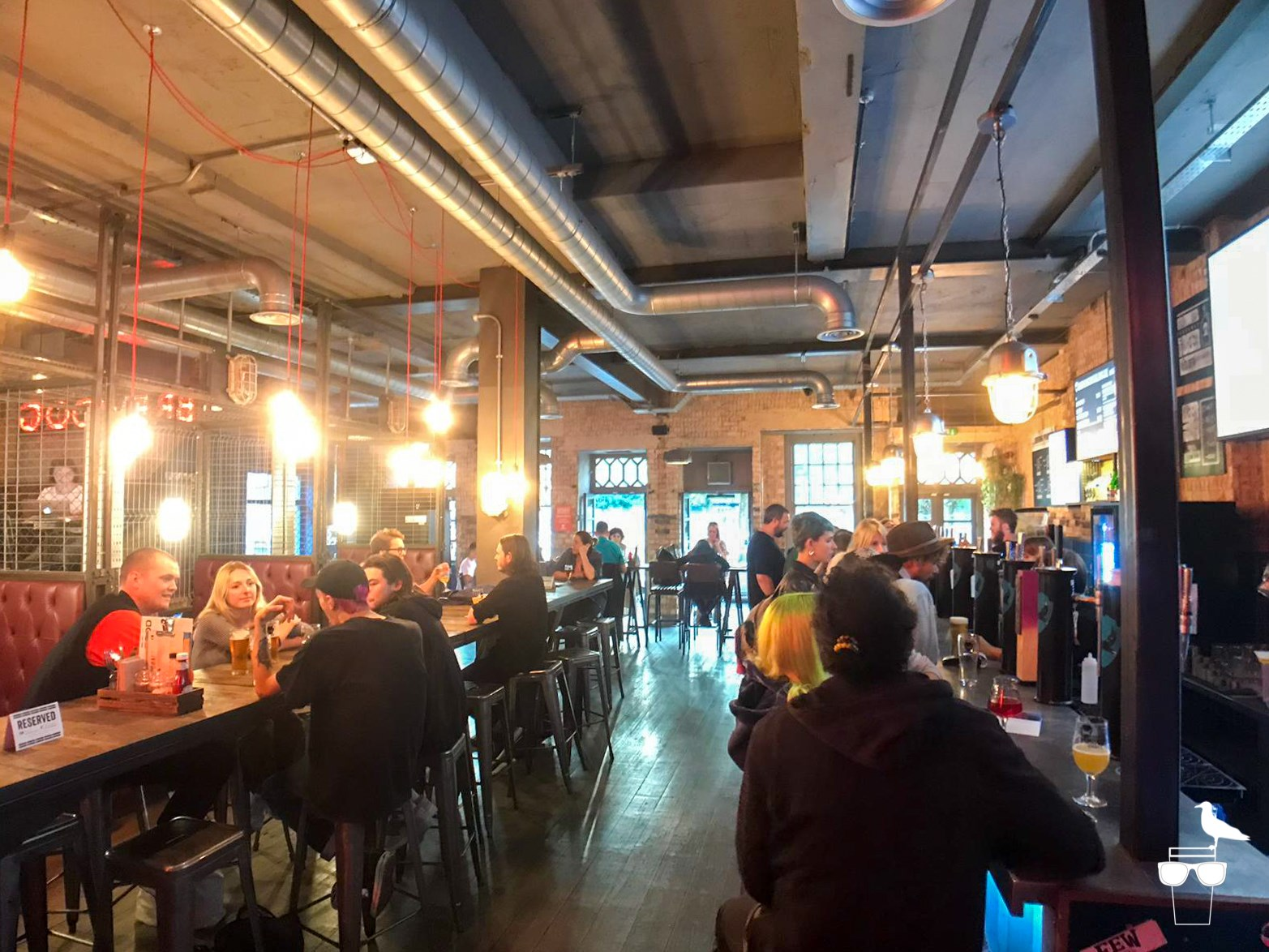 brewdog brighton customers at the bar