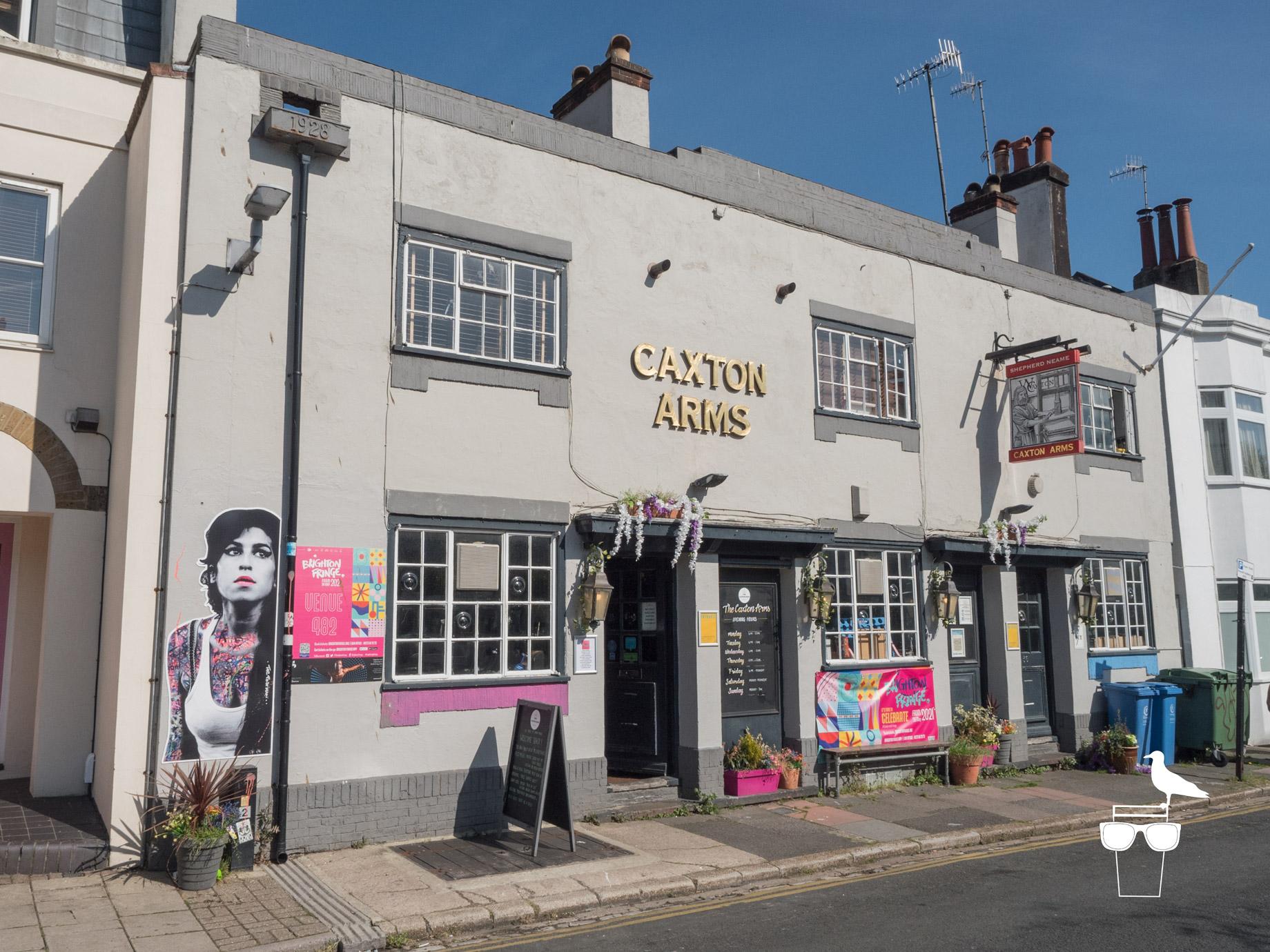 caxton arms pub brighton outside front facade