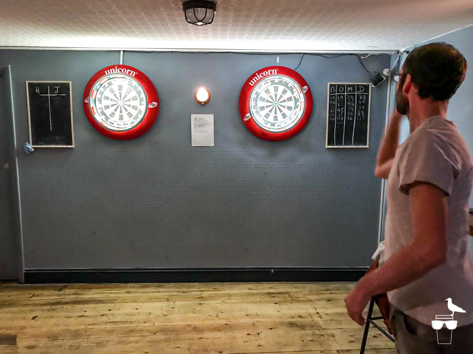 freehaus pub brighton man playing darts