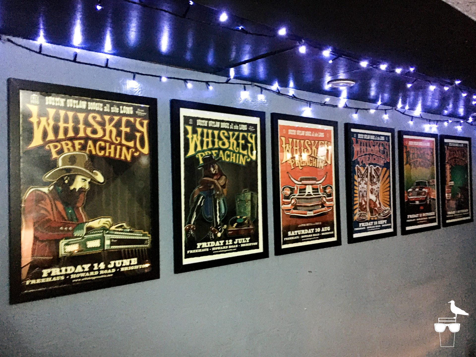freehaus pub brighton whiskey preachin' posters