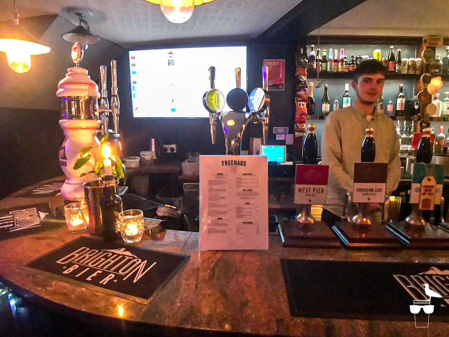 freehaus pub brighton internal barman and bar
