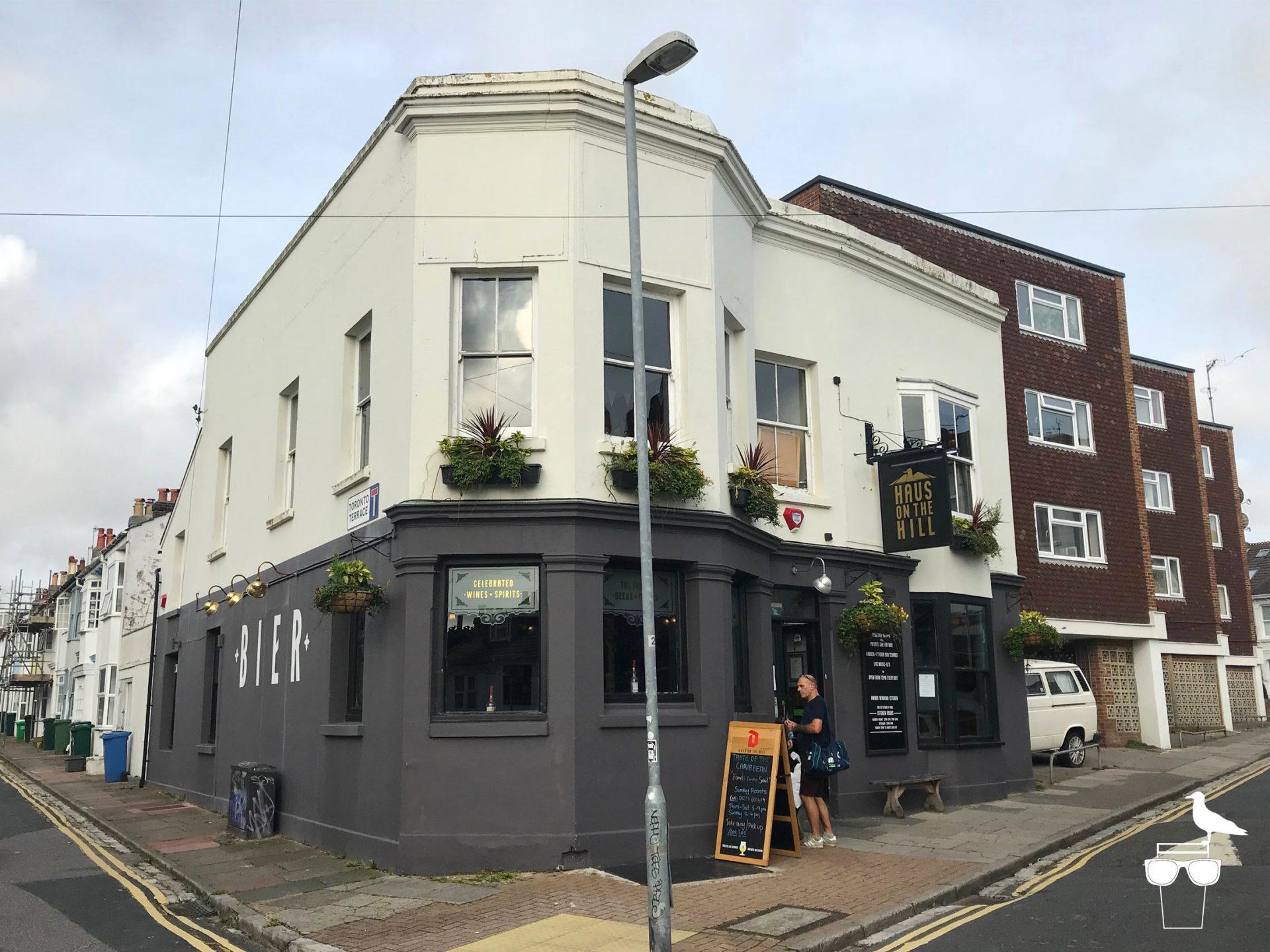 haus on the hill brighton pub hanover outside corner view