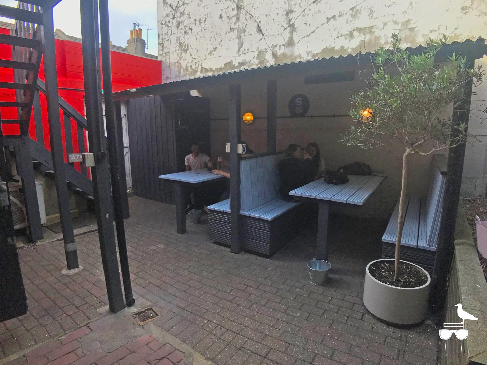 haus on the hill brighton pub hanover outside booth seating