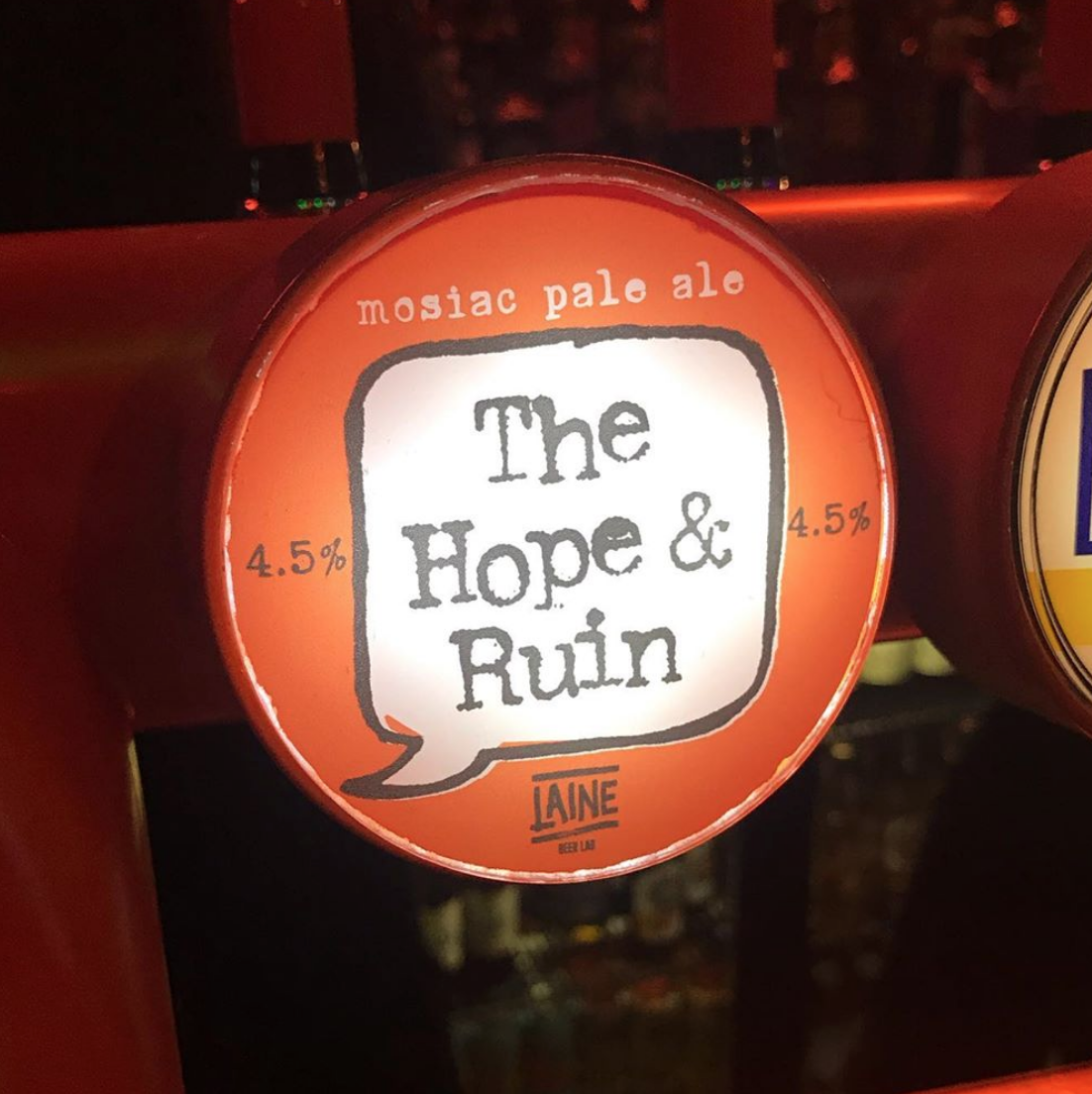 laine brew co mosaic pale ale the hope and ruin