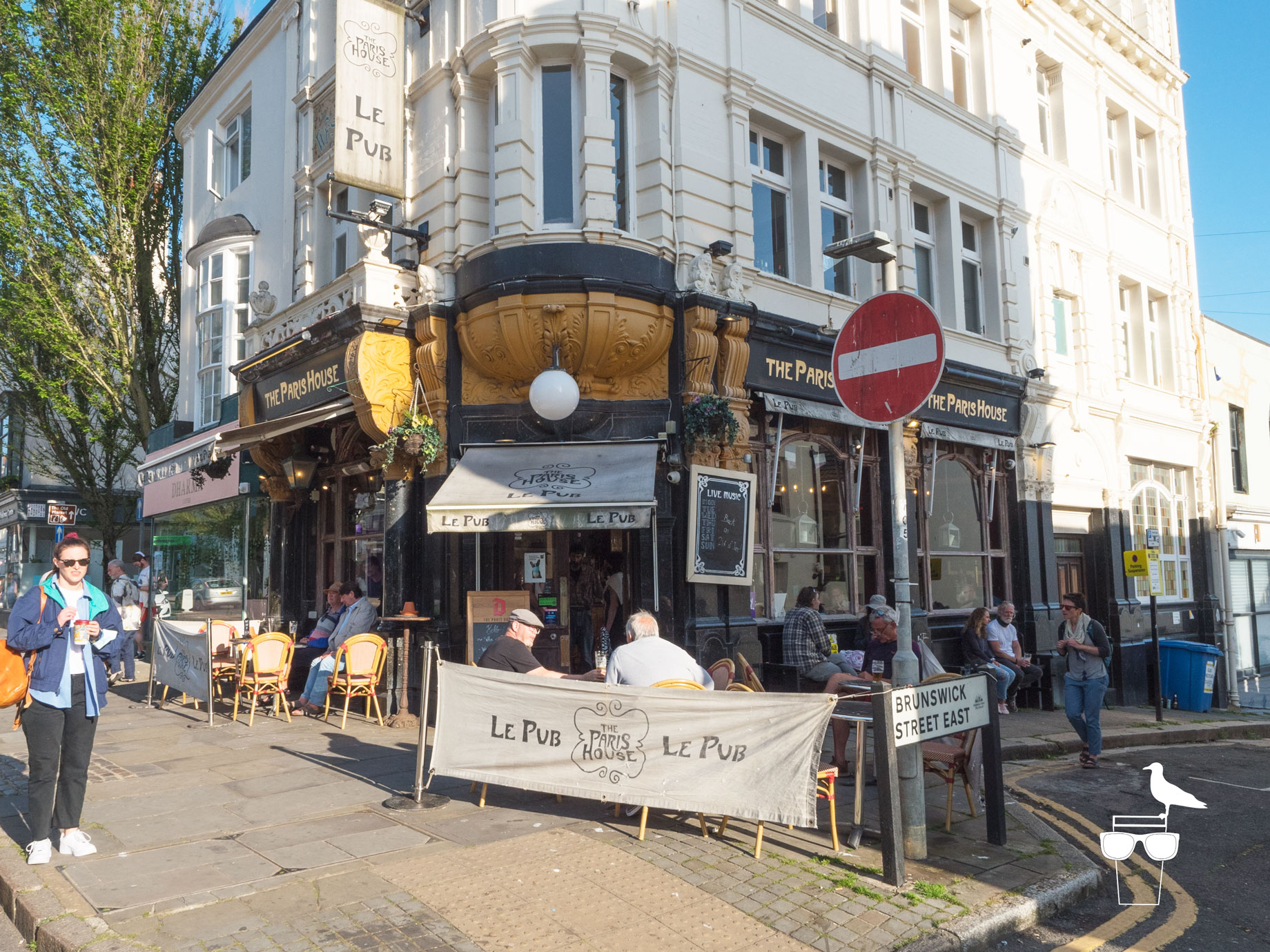 the paris house brighton outside in the sunshine