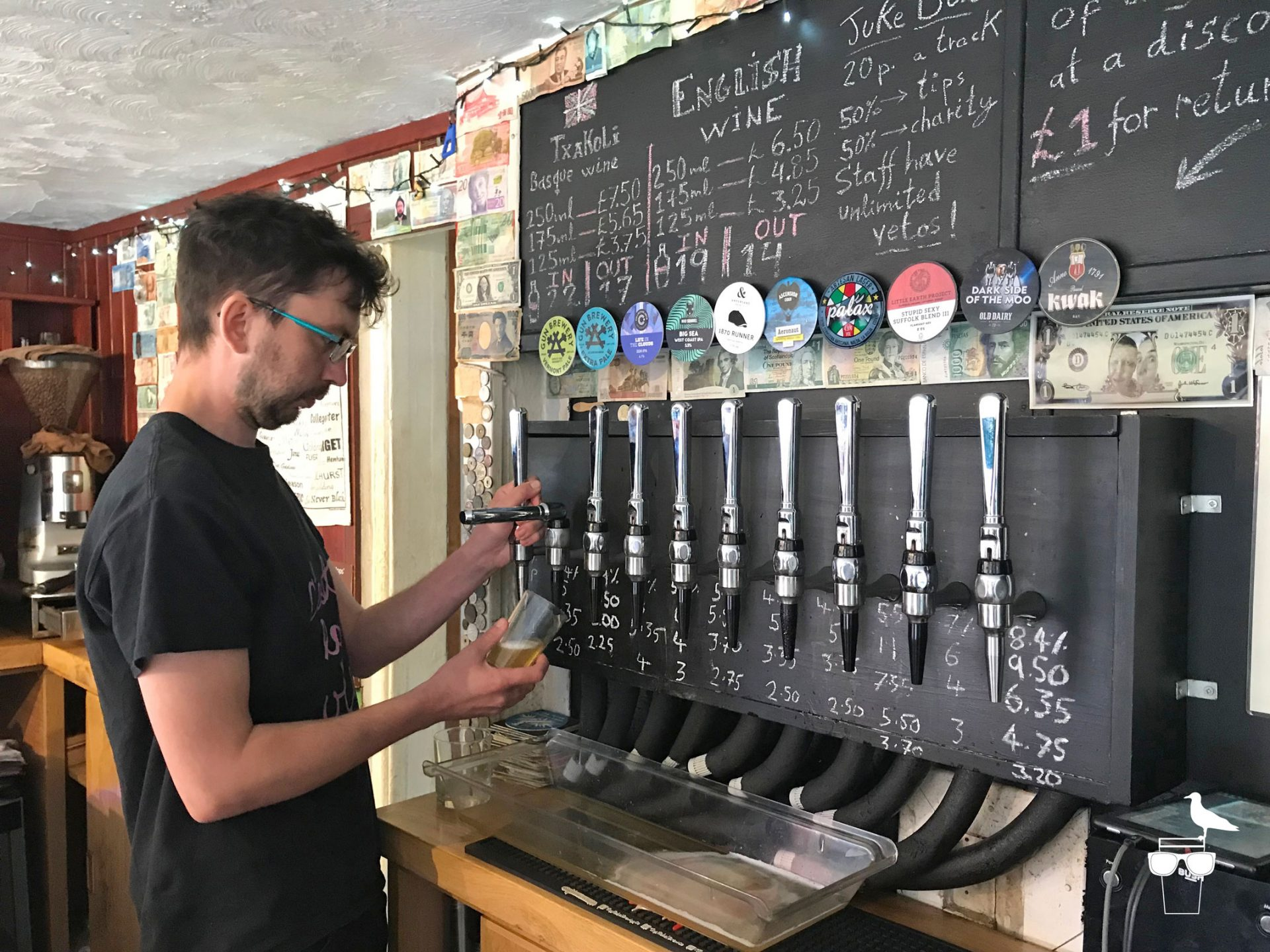 the-patch-lewes-bar-taps-barman-pouring-keg-beer