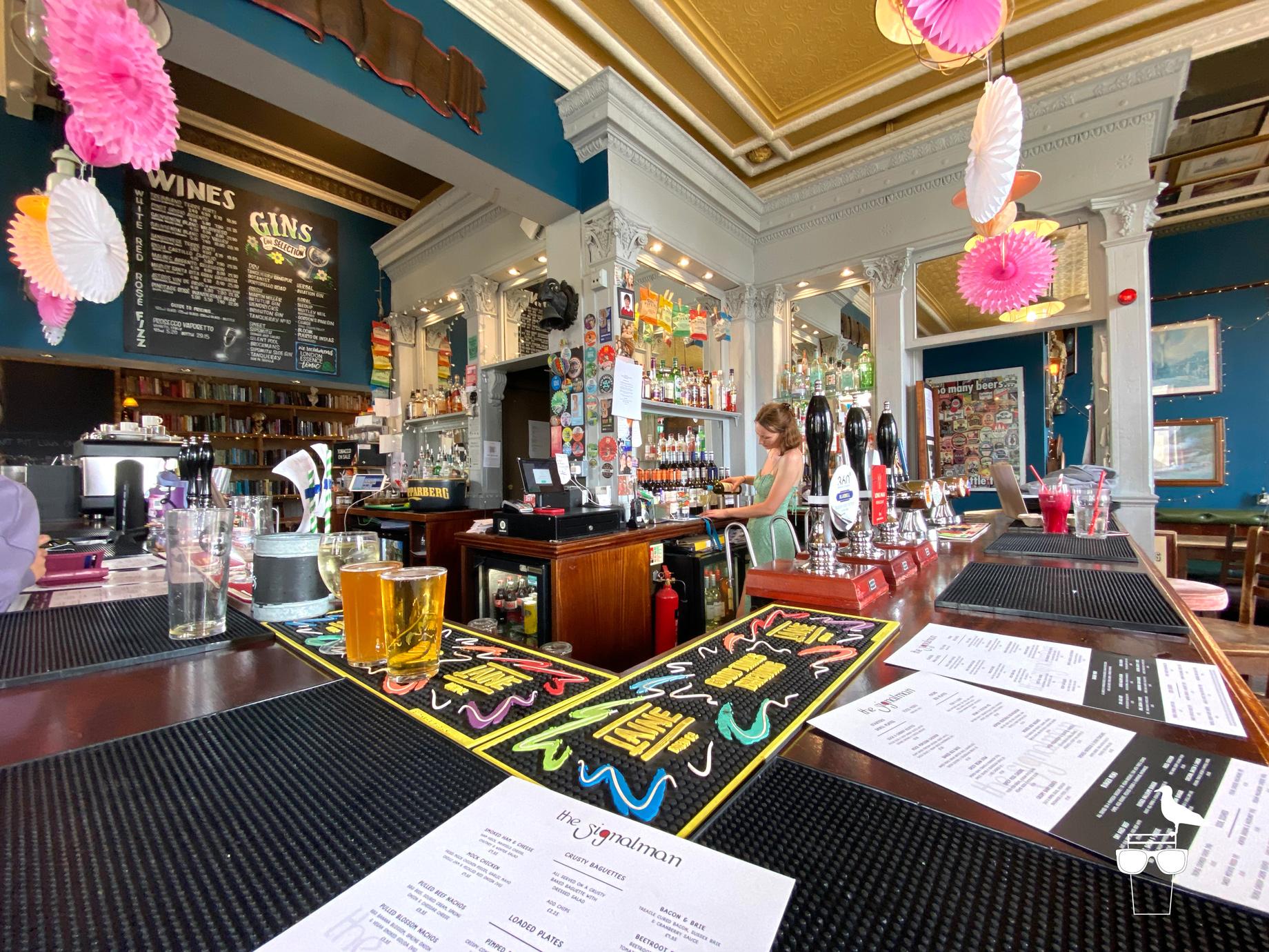 The Signalman Brighton pub garden