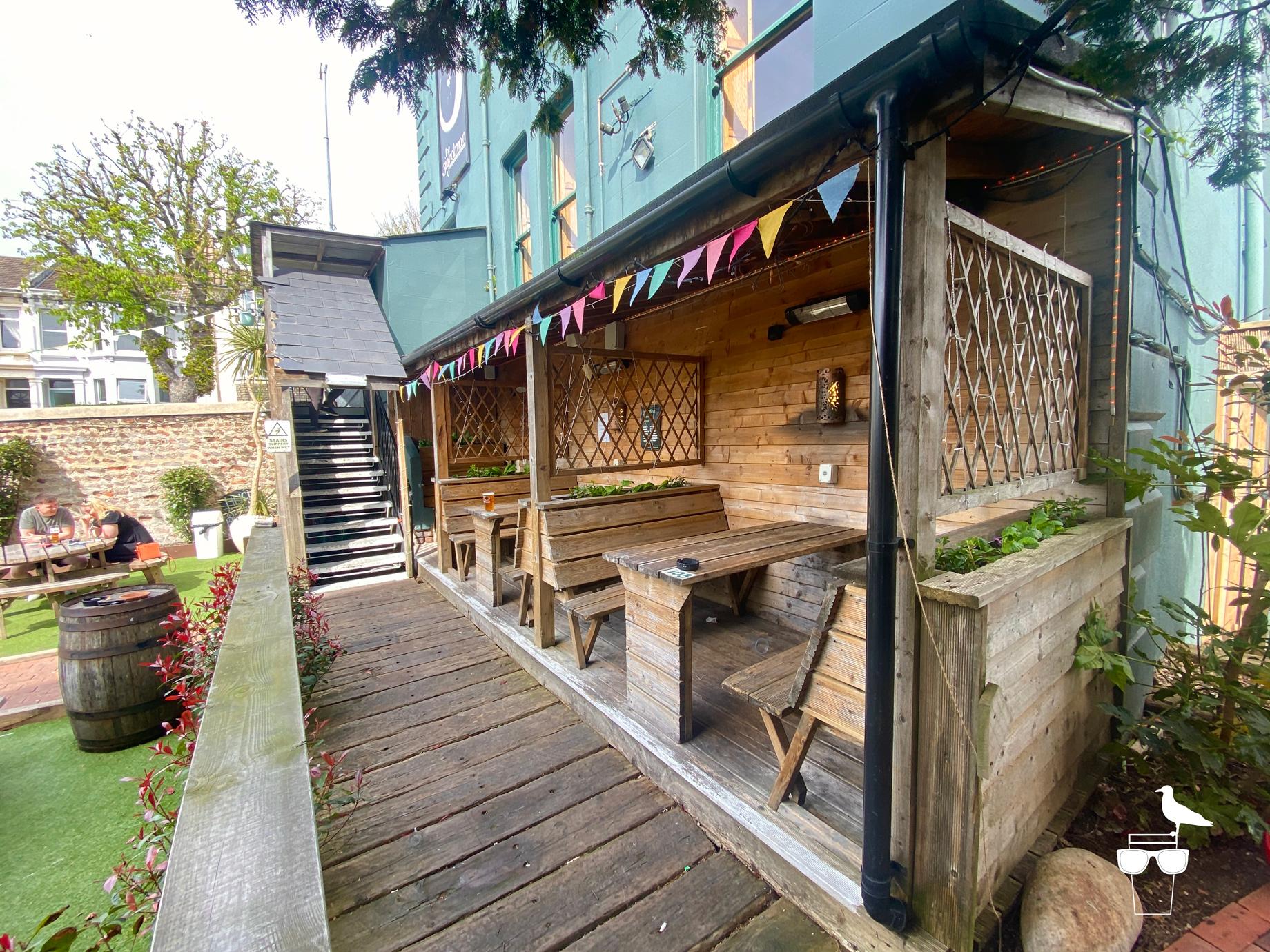 The Signalman Brighton pub inside wide angle full of customers
