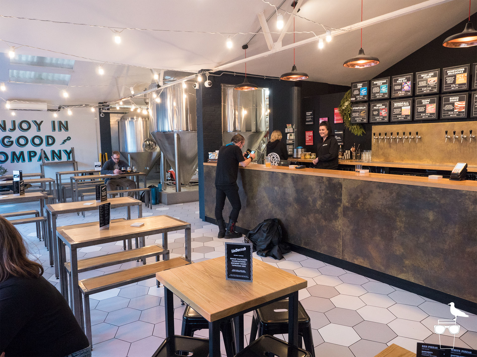 unbarred brewery and taproom brighton inside bar and seating
