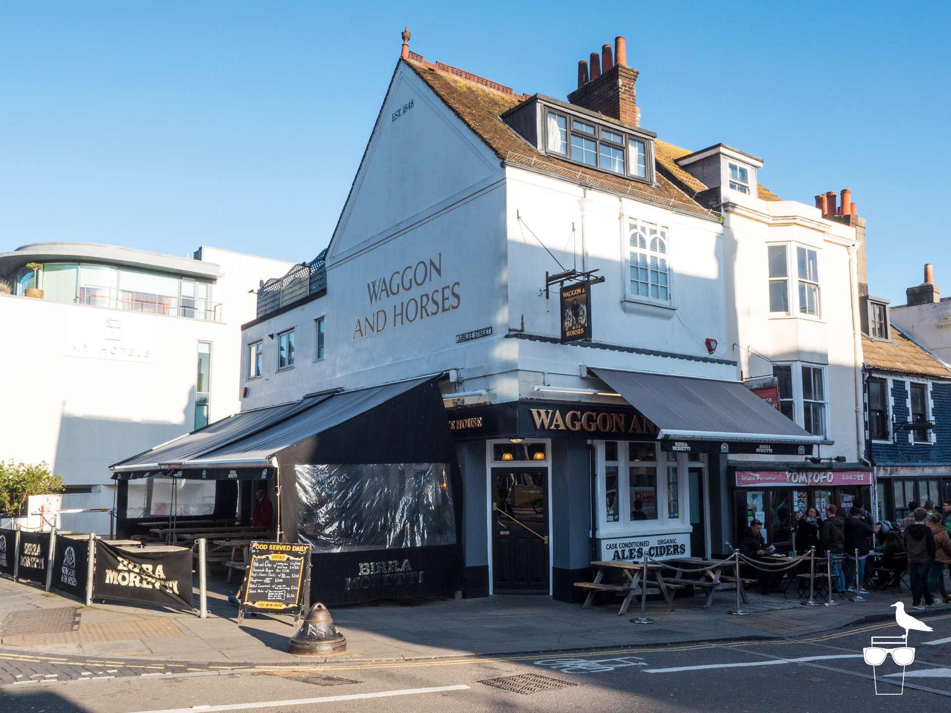 Waggon and Horses pub brighton outside